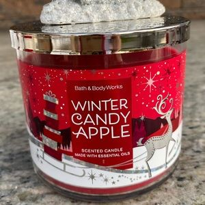 Winter Candle Apple Candle